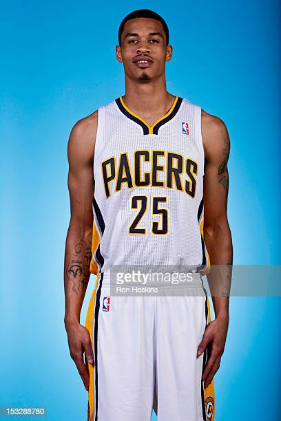 Gerald Green of the Indiana Pacers poses for a photo during 2012 NBA Media Day on October 1 2012 at Bankers Life Fieldhouse in Indianapolis Indiana...