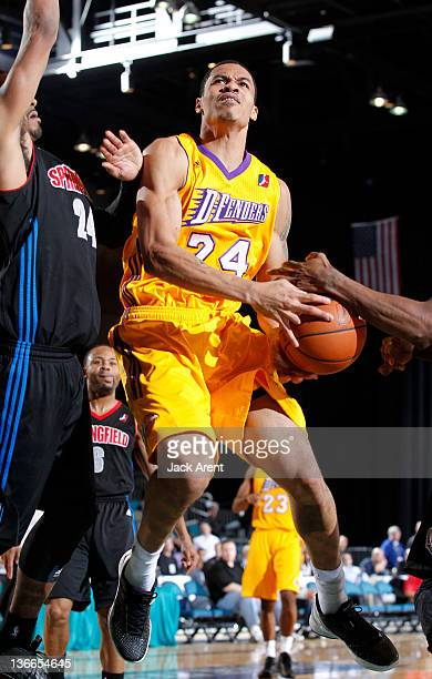 Gerald Green of the Los Angeles DFenders drives to the basket against the Springfield Armor during the 2012 NBA DLeague Showcase on January 9 2012 at...