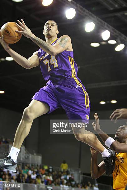 Gerald Green of the West AllStars shoots against the East AllStars during the NBA Development League AllStar Game Presented By 26SECONDS on center...