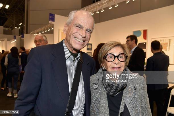 Gerald Gregmen and Vivian Gregmen attend the IFPDA Fine Art Print Fair Opening Preview at The Jacob K Javits Convention Center on October 25 2017 in...