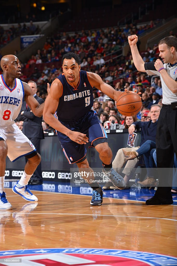 Gerald Henderson #9 of the Charlotte Bobcats drives to the basket against the Philadelphia 76ers at the Wells Fargo Center on March 30, 2013 in Philadelphia, Pennsylvania.