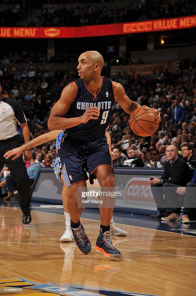 Gerald Henderson #9 of the Charlotte Bobcats handles the ball against the Denver Nuggets on January 29, 2014 at the Pepsi Center in Denver, Colorado.
