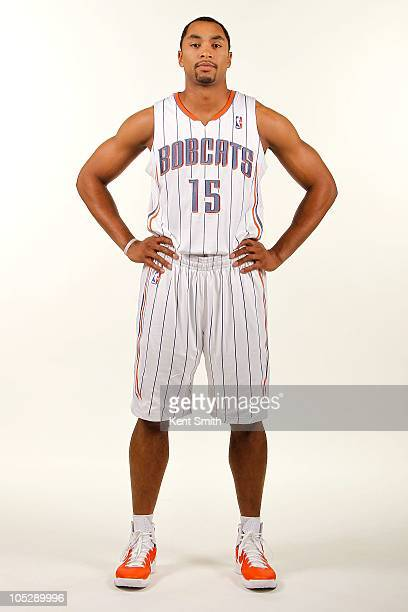 Gerald Henderson of the Charlotte Bobcats poses for a portrait during the 2010 NBA Media Day on September 27 2010 at Time Warner Cable Arena in...