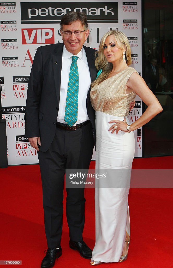 Gerald Kean and Lisa Murphy attend the Peter Mark VIP Style Awards at Marker Hotel on April 26, 2013 in Dublin, Ireland.