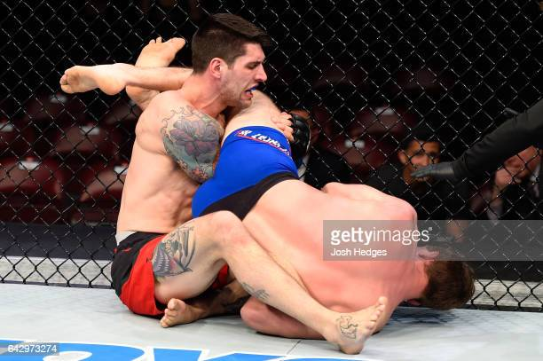 Gerald Meerschaert submits Ryan Janes of Canada in their middleweight fight during the UFC Fight Night event inside the Scotiabank Centre on February...