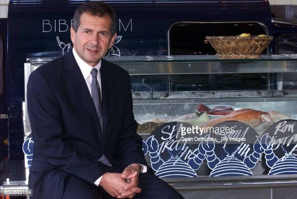 Gerald Ratner enjoys lunch in the Oyster Bat at Bibendum in the Michelin Building in London after announcing his return to the jewellery trade a...