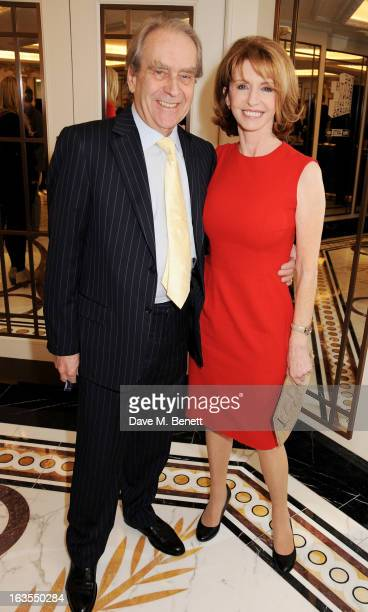 Gerald Scarfe and Jane Asher arrive at the 2013 South Bank Sky Arts Awards at The Dorchester on March 12 2013 in London England