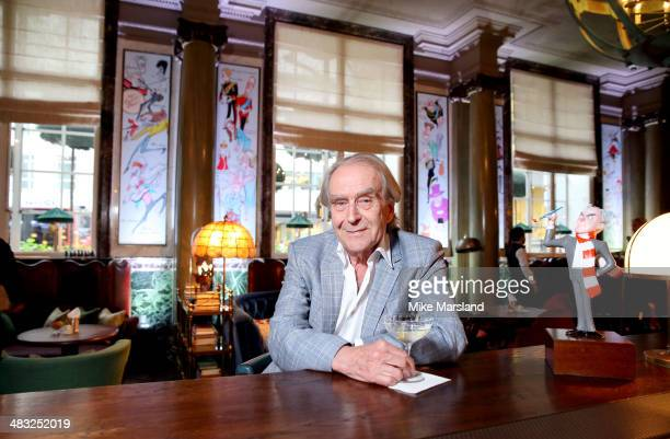 Gerald Scarfe attends the reveal of Gerald Scarfe's exclusive artwork at Scarfes Bar Rosewood London on April 7 2014 in London England