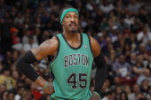 Gerald Wallace of the Boston Celtics in a game against the Sacramento Kings on February 22 2014 at Sleep Train Arena in Sacramento California NOTE TO...