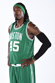 Gerald Wallace of the Boston Celtics poses for a portrait on September 29 2014 at the Boston Cetlics Training Center at Healthpoint in Waltham...
