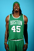 Gerald Wallace of the Boston Celtics poses for a portrait on September 29 2014 at the the Boston Cetlics Training Center at Healthpoint in Waltham...