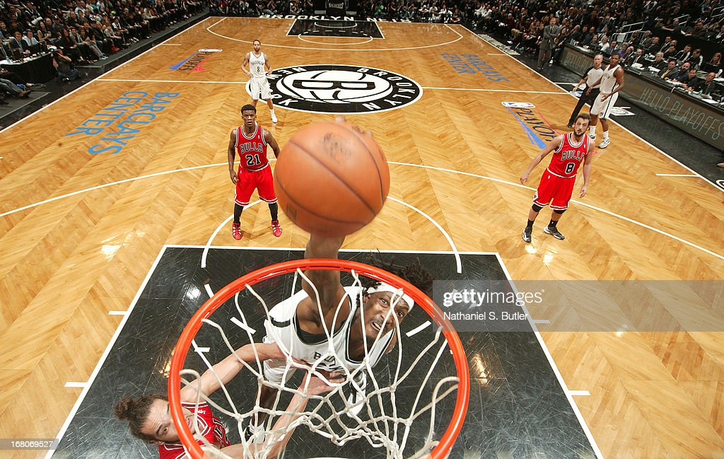 Gerald Wallace #45 of the Brooklyn Nets goes to the basket during the Game Seven of the Eastern Conference Quarterfinals between the Chicago Bulls and the Brooklyn Nets during the 2013 NBA Playoffs at the Barclays Center on May 4, 2013 in the Brooklyn borough of New York City.