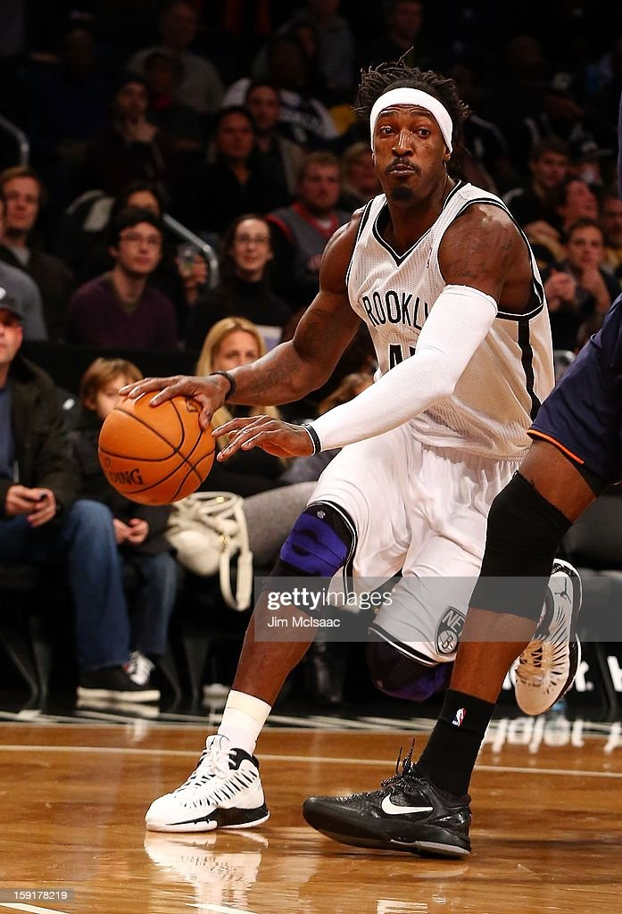 Gerald Wallace #45 of the Brooklyn Nets in action against the Charlotte Bobcats at Barclays Center on December 28, 2012 in the Brooklyn borough of New York City.The Nets defeated the Bobcats 97-81.