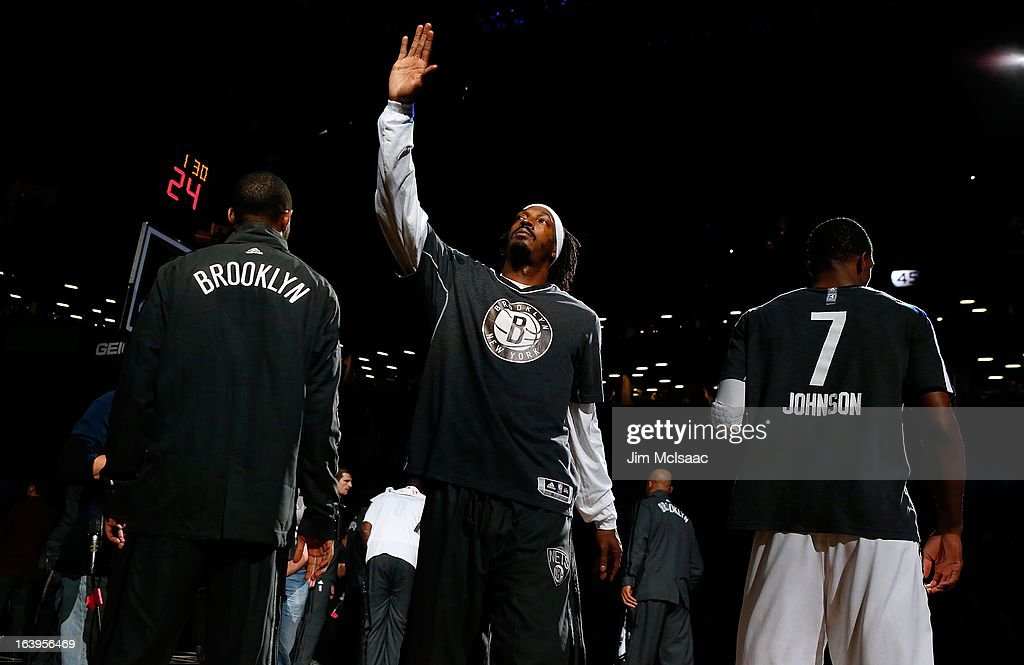 Gerald Wallace #45 of the Brooklyn Nets is introduced before a game against the Dallas Mavericks at Barclays Center on March 1, 2013 in the Brooklyn borough of New York City.The Mavericks defeated the Nets 98-90.