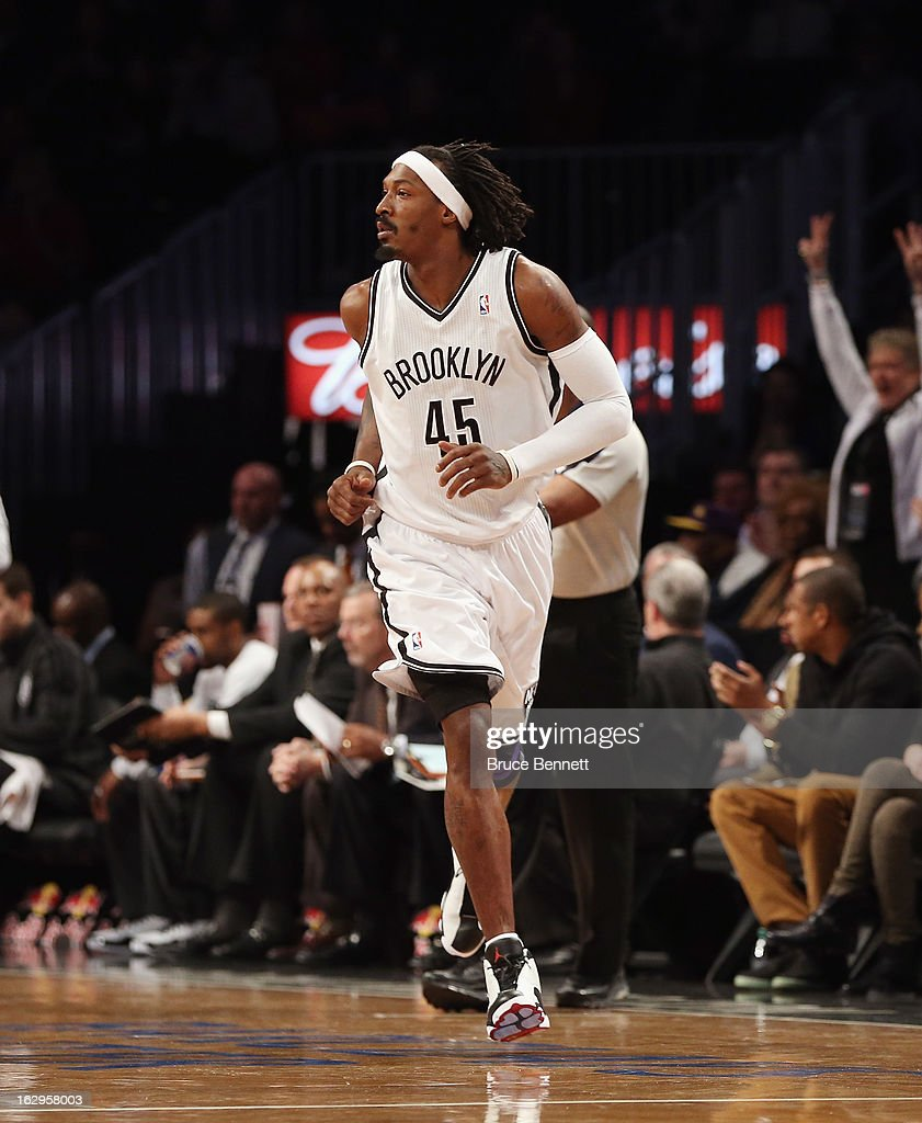 Gerald Wallace #45 of the Brooklyn Nets plays against the Dallas Mavericks at the Barclays Center on March 1, 2013 in New York City.