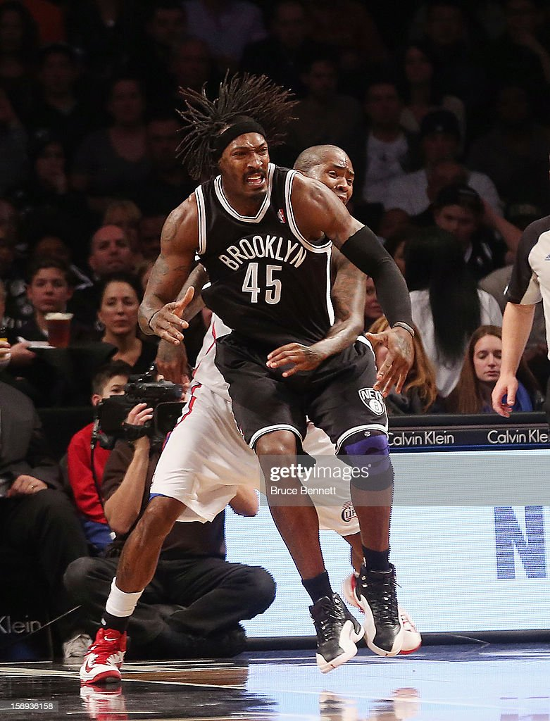 <a gi-track='captionPersonalityLinkClicked' href=/galleries/search?phrase=Gerald+Wallace&family=editorial&specificpeople=202117 ng-click='$event.stopPropagation()'>Gerald Wallace</a> #45 of the Brooklyn Nets plays against the Los Angeles Clippers at the Barclays Center on November 23, 2012 in the Brooklyn borough of New York City.