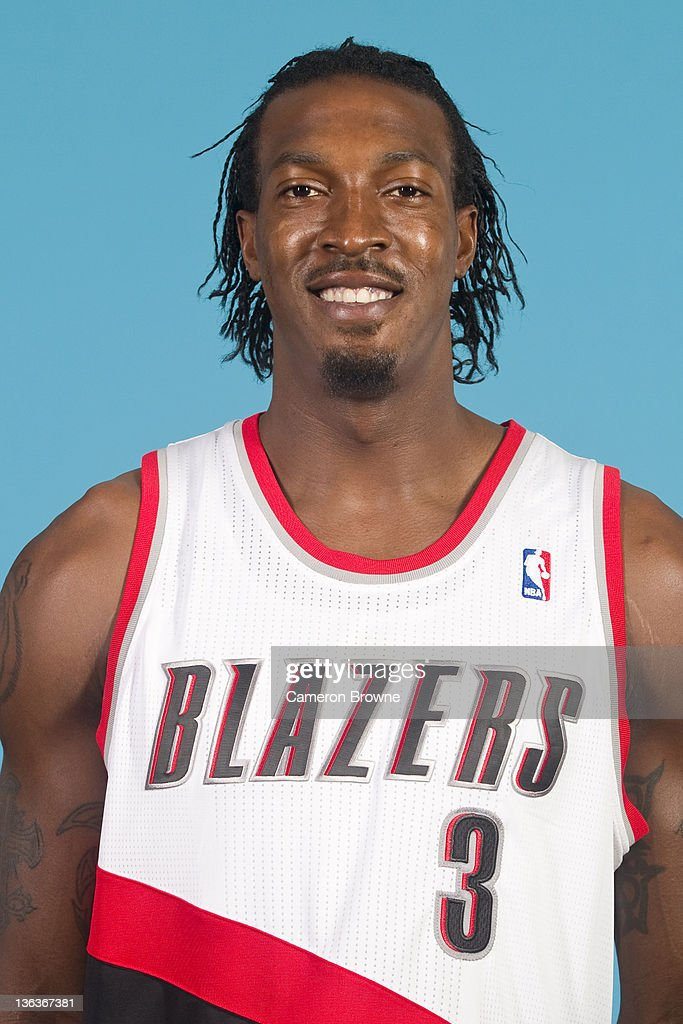 <a gi-track='captionPersonalityLinkClicked' href=/galleries/search?phrase=Gerald+Wallace&family=editorial&specificpeople=202117 ng-click='$event.stopPropagation()'>Gerald Wallace</a> #3 of the Portland Trail Blazers poses for a portrait during Media Day on December 16, 2011 at the Rose Garden Arena in Portland, Oregon.