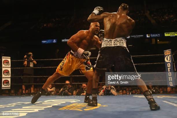 Gerald Washington fights WBC World Heavyweight Champion Deontay Wilder at Legacy Arena at the BJCC on February 25 2017 in Birmingham Alabama