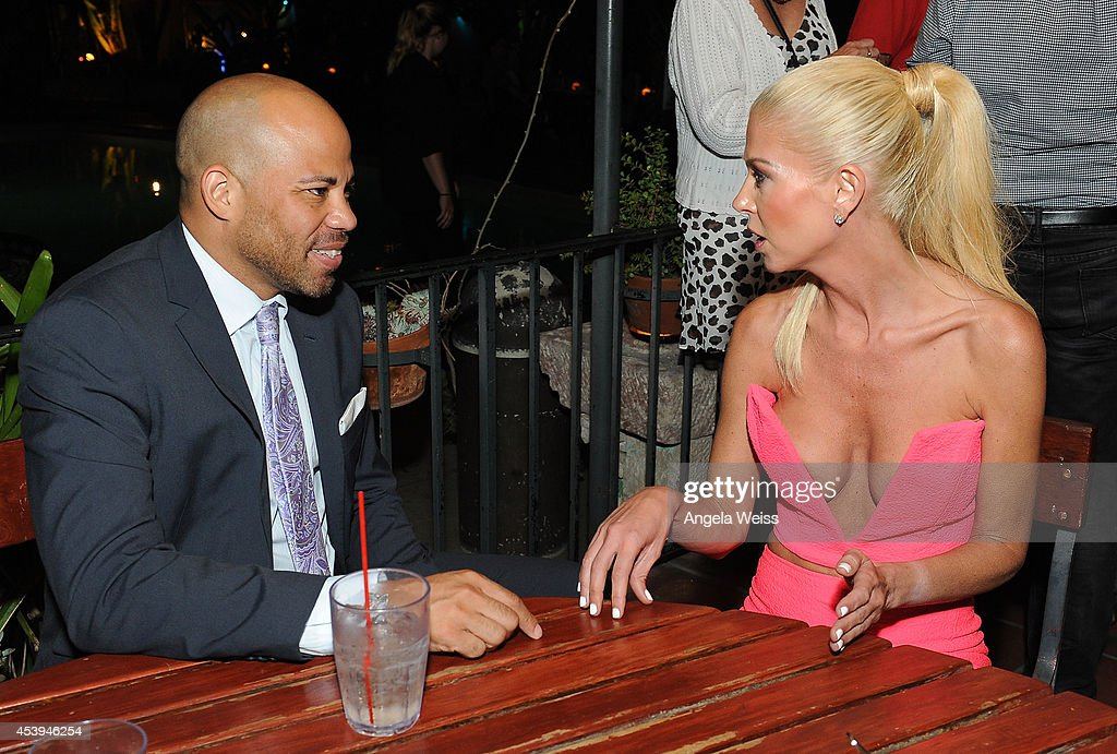 Gerald Webb and actress Tara Reid attend the premiere after party of The Asylum & Fathom Events' 'Sharknado 2: The Second One' at Figueroa Hotel on August 21, 2014 in Los Angeles, California.