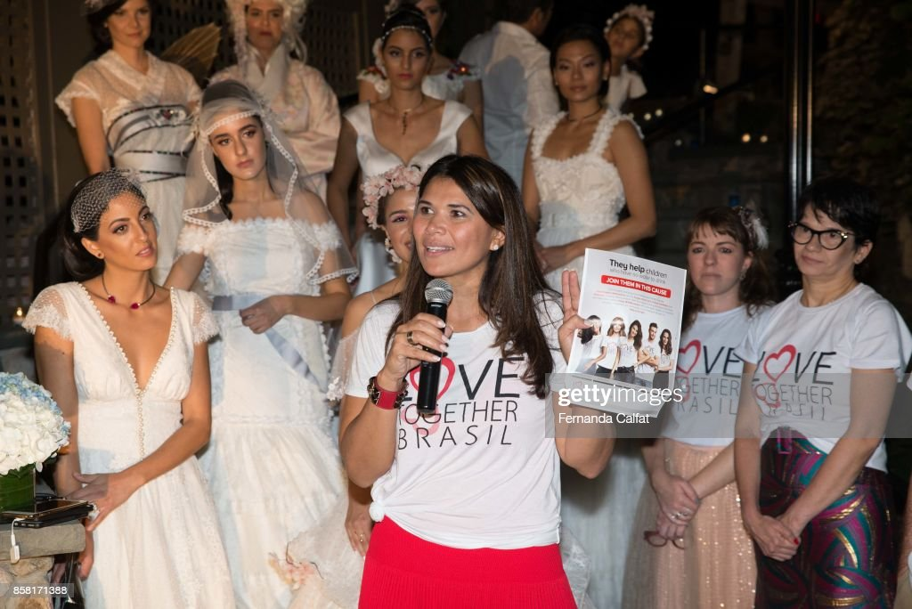 Geralda Sarraf attend at Po de Arroz Runway at New York Fashion Week: Bridal October 2017at Hendrick's Tavern on October 5, 2017 in Roslyn, New York.