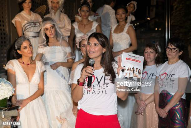Geralda Sarraf attend at Po de Arroz Runway at New York Fashion Week Bridal October 2017at Hendrick's Tavern on October 5 2017 in Roslyn New York