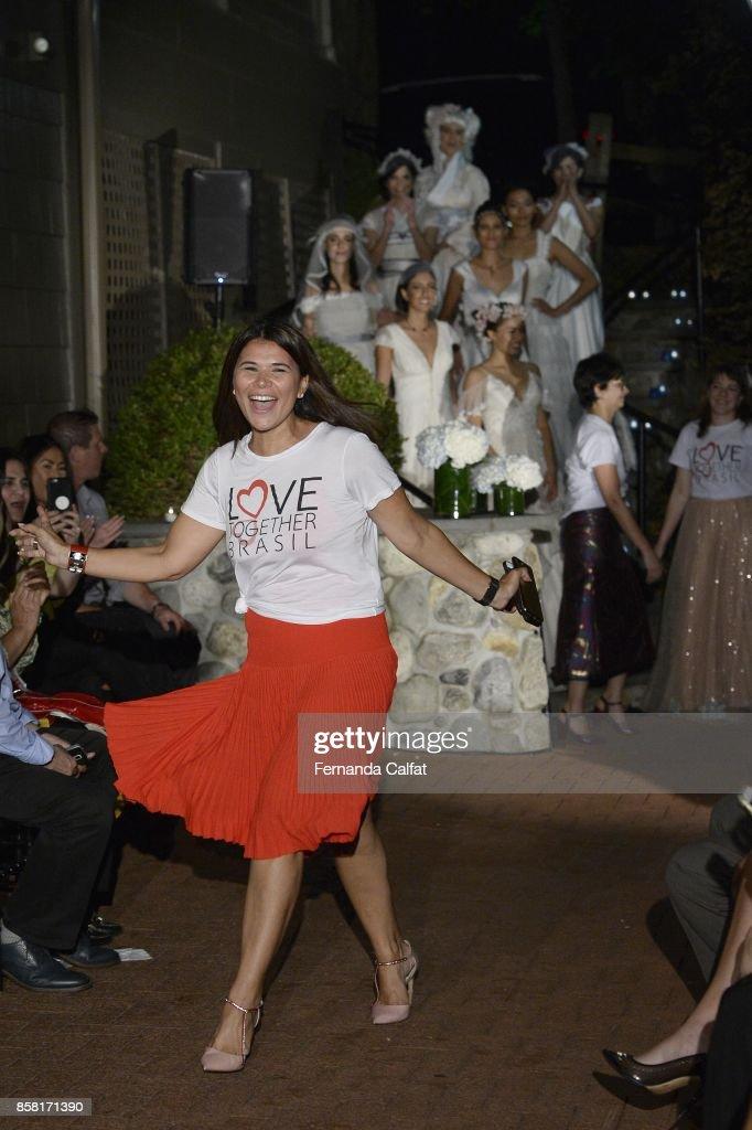 Geralda Sarraf attends at Po de Arroz Runway at New York Fashion Week Bridal October 2017 at Hendrick's Tavern on October 5, 2017 in Roslyn, New York.