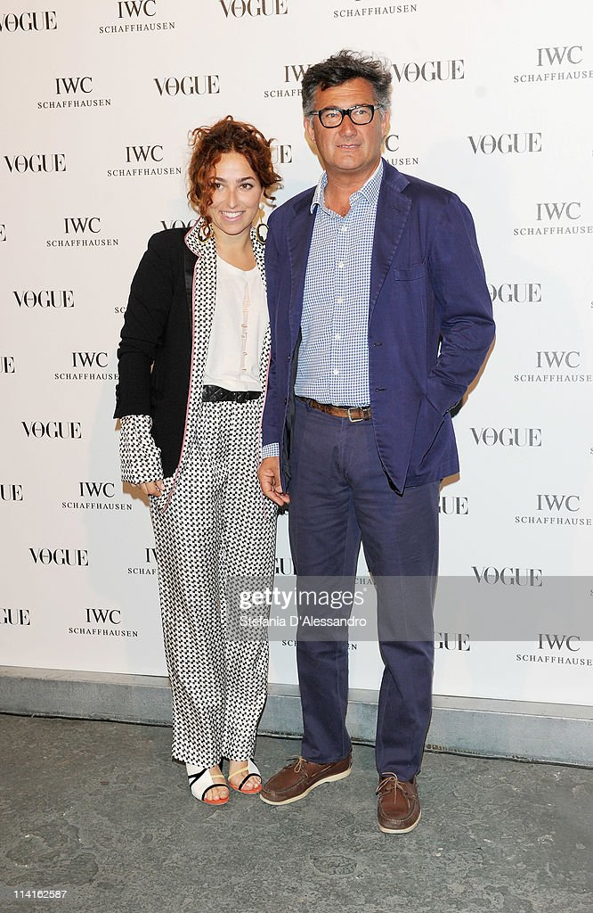 Geraldina Bassani and Massimo Piombo attend Vogue and IWC present 'Peter Lindbergh's Portofino' at 10 Corso Como on May 12, 2011 in Milan, Italy.