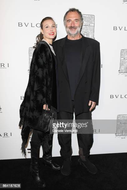 Geraldina Polverelli Ferri and Fabrizio Ferri attend a party to celebrate the Bvlgari Flagship Store Reopening on October 20 2017 in New York City