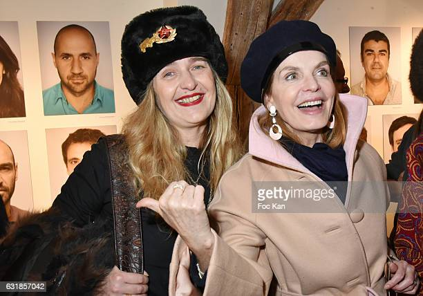 Geraldine Beigbeder and actrice Cyrielle Clair attend 'Sylvie A Saint Tropez' Sylvie Bourgeois Harel Book Signing at Librairie Des Femmes on January...