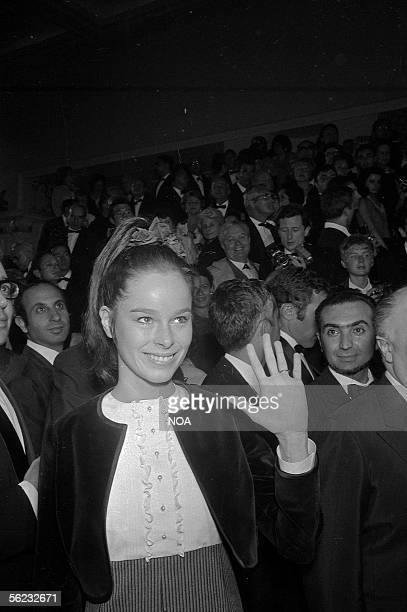 Geraldine Chaplin American actress at the showing of 'Doctor Zhivago' of David Lean 1965 HA178424