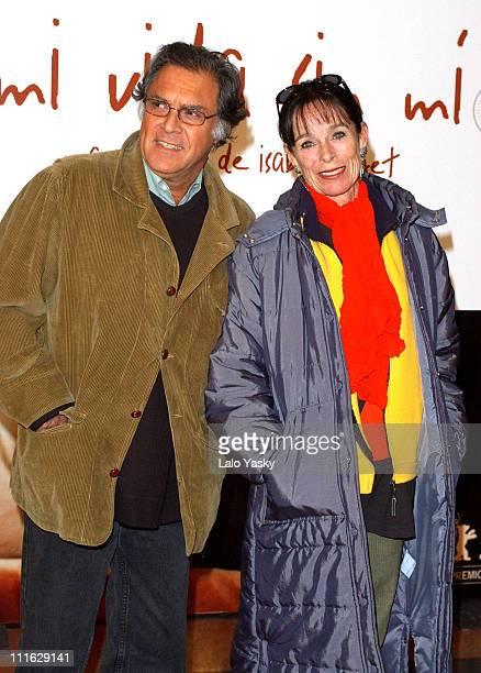 Geraldine Chaplin and husband during 'My Life Without Me' Premiere Madrid at Palacio de la Musica Cinema in Madrid Spain