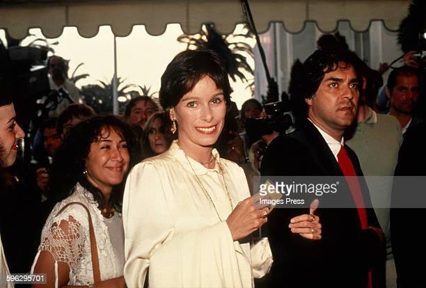 Geraldine Chaplin at the Cannes Film Festival circa 1982 in Cannes France