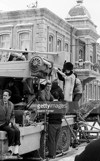 Geraldine Chaplin during the filmation of the movie 'Doctor Zhivago' directed by David Lean in Canillejas Madrid Spain