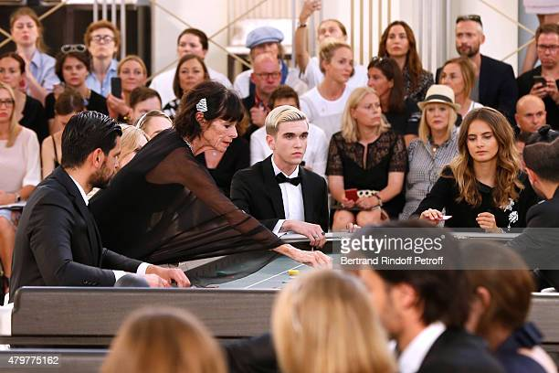 Geraldine Chaplin GabrielKane DayLewis and Violette d'Urso attend the Chanel show as part of Paris Fashion Week Haute Couture Fall/Winter 2015/2016...