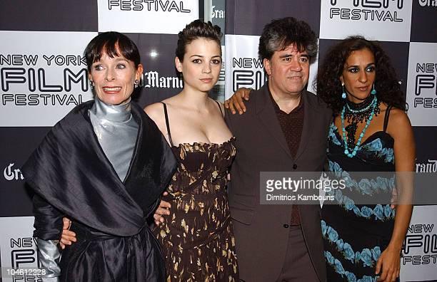 Geraldine Chaplin Leonor Watling writer/director Pedro Almodovar and Rosario Flores