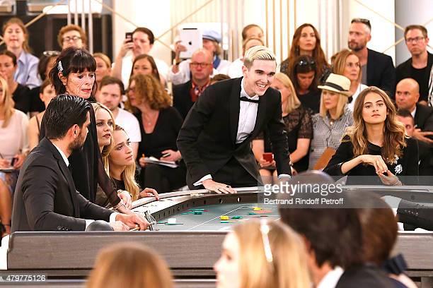 Geraldine Chaplin Vanessa Paradis Jemima Kirke GabrielKane DayLewis and Violette d'Urso attend the Chanel show as part of Paris Fashion Week Haute...