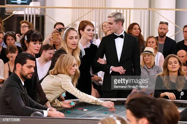 Geraldine Chaplin Vanessa Paradis Jemima Kirke Julianne Moore GabrielKane DayLewis and Violette d'Urso attend the Chanel show as part of Paris...