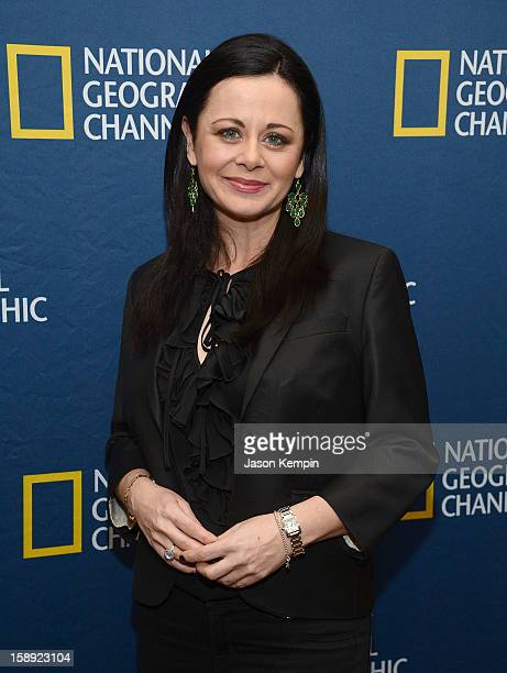 Geraldine Hughes attends the National Geographic Channels' '2013 Winter TCA' Cocktail Party at the Langham Huntington Hotel on January 3 2013 in...