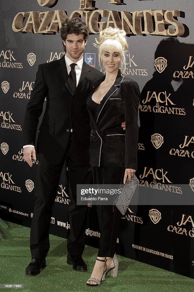 Geraldine Larrosa 'Innocence' and Sergio Arce attend 'Jack el Caza Gigantes' premiere photocall at Kinepolis cinema on March 13, 2013 in Madrid, Spain.