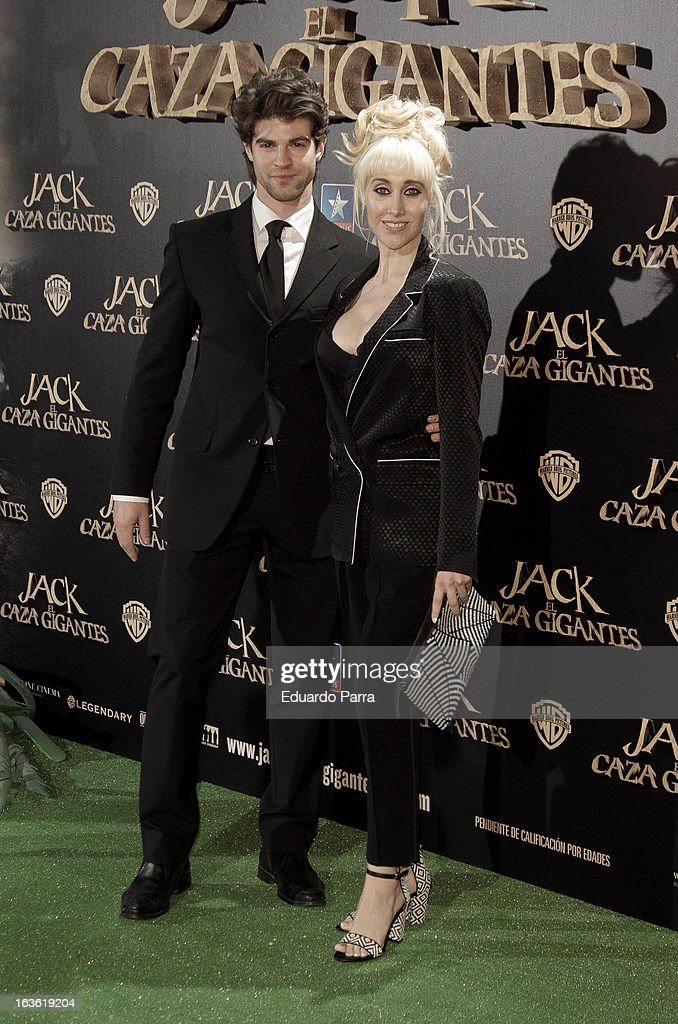 Geraldine Larrosa 'Innocence' and Sergio Arce attend 'Jack el Caza Gigantes' premiere photocall at Kinepolis cinema on March 13, 2013 in Madrid, Spain.