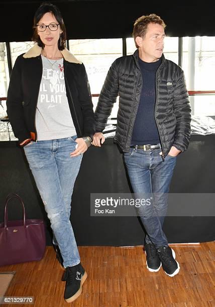 Geraldine Maillet and Daniel Riolo attend the Winamax Poker Tour 20162017 at Grande Halle de la Villette Day One on November 5 2016 in Paris France
