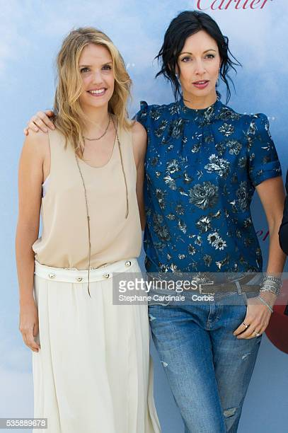 Geraldine Maillet and Laurence Arne attend the 'Cartier's Jury Revelation' Photocall during the 39th Deauville American Film Festival in Deauville