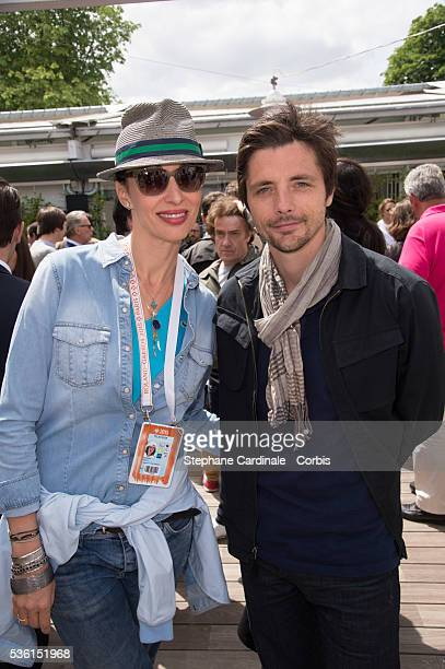 Geraldine Maillet and Raphael Personnaz attend the 2015 Roland Garros French Open Day Nine on June 1 2015 in Paris France