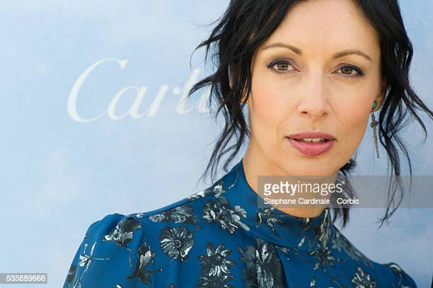 Geraldine Maillet attends the 'Cartier's Jury Revelation' Photocall during the 39th Deauville American Film Festival in Deauville