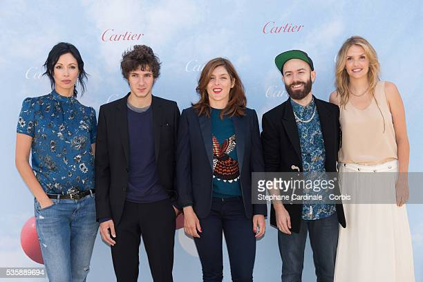 Geraldine Maillet Vincent Lacoste Valerie Donzelli Woodkid and Laurence Arne attend the 'Cartier's Jury Revelation' Photocall during the 39th...