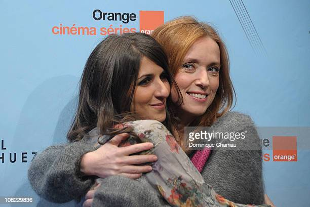 Geraldine Nakache and Lea Drucker attends the 14th Film Festival Of L'Alpe D'Huez on January 21 2011 in Alpe d'Huez France
