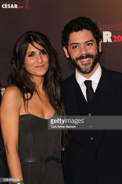 Geraldine Nakache and Manu Payet arrive at the 36th Cesar Awards at Theatre du Chatelet on February 25 2011 in Paris France