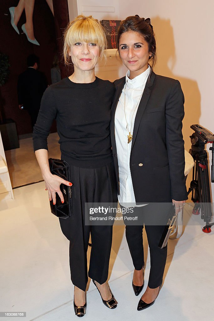 <a gi-track='captionPersonalityLinkClicked' href=/galleries/search?phrase=Geraldine+Nakache&family=editorial&specificpeople=618103 ng-click='$event.stopPropagation()'>Geraldine Nakache</a> (R) and Marina Foys attend the Roger Vivier Cocktail, to celebrate the launch of the book 'Roger Vivier', as part of Paris Fashion Week on March 4, 2013 in Paris, France.
