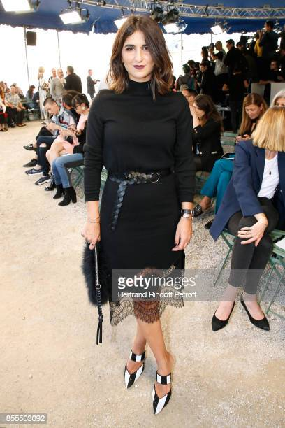 Geraldine Nakache attends the Nina Ricci show as part of the Paris Fashion Week Womenswear Spring/Summer 2018 on September 29 2017 in Paris France