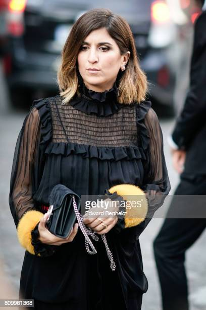Geraldine Nakache attends the Vogue Foundation Dinner during Paris Fashion Week Haute Couture Fall/Winter 20172018 on July 4 2017 in Paris France